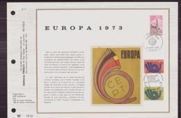 BELGIQUE DOCUMENT DE LA POSTE DU 14 AVRIL 1973 PARIS BRUXELLES EUROPA 1973 - Documents De La Poste