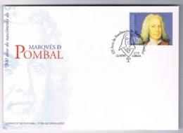 Portugal, 1999, FDC 300 Anos Do Nascimento Do Marquês De Pombal - FDC