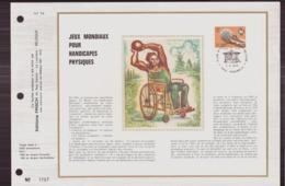 BELGIQUE DOCUMENT DE LA POSTE DU 7 AVRIL 1973 PERUWELTZ JEUX MONDIAUX POUR HANDICAPES PHYSIQUES - Documents Of Postal Services