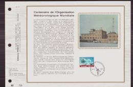 BELGIQUE DOCUMENT DE LA POSTE DU 24 MARS 1973 BRUXELLES CENTENAIRE DE L ORGANISATION METEOROLOGIQUE MONDIALE - Documents Of Postal Services