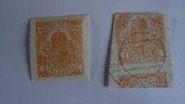 HONGRIE 1900 - Timbres Pour Journaux YT N°5 X 2 (1 Neuf Avec Gomme Non Dentelé; 1 Obli Mal Centré) - Newspapers