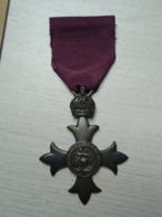 Belle Médaille Ordre De L 'Empire Britannique : For God And The Empire - Autres