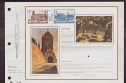 BELGIQUE DOCUMENT DE LA POSTE DU 24 MARS 1973 FLOREFFE COLLEGIALE SAINT URSMER ET ABBAYE DE FLOREFFE - Documents Of Postal Services