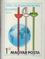 Ref. 15602 * NEW *  - HUNGARY . 1975. FANCING WORLD CHAMPIONSHIPS. CAMPEONATOS DEL MUNDO DE ESGRIMA - Nuevos