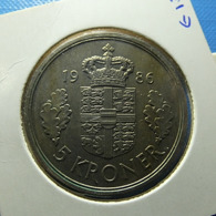 Denmark 5 Kroner 1986 - Dinamarca