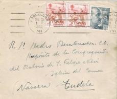 34384. Carta BARCELONA 1952. Sellos Pro Tuberculosos Variedad Color Num 1103 - 1931-Hoy: 2ª República - ... Juan Carlos I