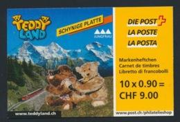 """Schweiz Suisse 2002: """"HAPPY BIRTHDAY TEDDY"""" Zu 1054-58 (MH 73) Mi 1796-1800 Yv 1721-25  BASEL 15 MAI 2002 (Zu CHF 30.00) - Bären"""