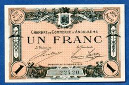 Angoulême  -  1 Franc 1915  -     -  état UNC - Chambre De Commerce