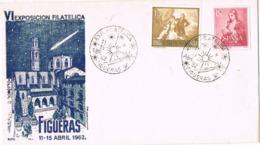 34388. Carta FIGUERAS (Gerona) 1962. VI Exposicion Filatelica - 1931-Hoy: 2ª República - ... Juan Carlos I