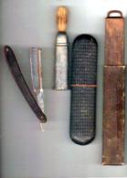 Rasoir Coupe Choux ( C.TALISMAL ) Avec Affuteur Double Face En Cuir Et Son Blaireau - Razor Blades