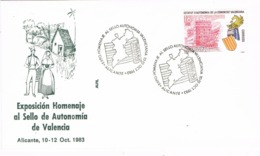 34389. Carta ALICANTE 1982. Exposicion Autonomia Valenciana - 1931-Hoy: 2ª República - ... Juan Carlos I