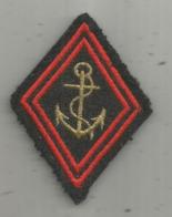 écusson Tissu , Militaria , Scratch , Ancre De Marine , 2 Scans - Scudetti In Tela