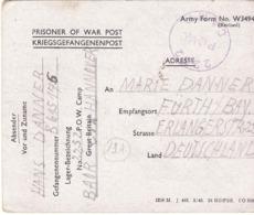 PRISONNIER DE GUERRE 40 45 ALLEMAND CAMP LAGER 2232 BERCHEM ANTWERPEN  VERS FURTH  CENSURE POW 2232 CAMP - Militaria