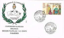 34391. Carta FIGUERAS (Gerona) 1979. Exposicion Homenaje Al CARTERO. S.C. Erato - 1931-Hoy: 2ª República - ... Juan Carlos I