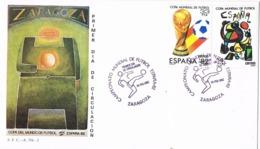 34392. Carta ZARAGOZA 1982. Mundial Futbol ESPAÑA 82. Football - 1931-Hoy: 2ª República - ... Juan Carlos I