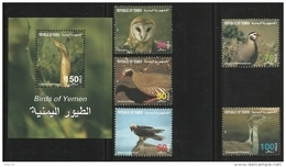 YEMEN  1996  BIRDS  SET & MS  MNH - Uccelli