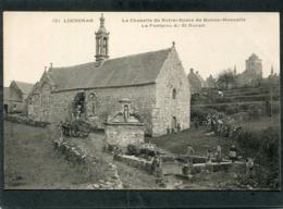 CPA - Karten Bost - LOCRONAN - Chapelle ND De Bonne Nouvelle - La Fontaine De St Ronan, Animé  (dos Non Divisé) - Locronan