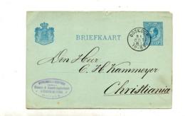 Carte Postale 5 C Roi Cachet Boskoop - Postwaardestukken