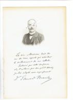 DOCTEUR EDOUARD BRANLY 1844 AMIENS 1940 PARIS PHYSICIEN RADIO PORTRAIT GRAVE AUTOGRAPHE BIOGRAPHIE ALBUM MARIANI - Historical Documents