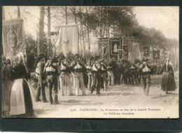 CPA - LOCRONAN - La Procession Au Jour De La Grande Troménie - Le Défilé Des Bannières, Très Animé - Locronan
