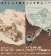 Cl 8) Publicités > Dépliants Touristiques > En Allemand   (Format 21 X10) - Dépliants Touristiques