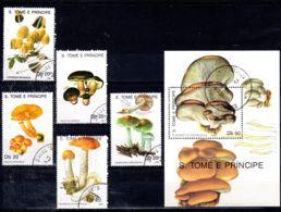 2.11.1990;  Sẫo Tomé Und Principe, Pilze, Mi-Nr. 1184 - 1189; Gestempelt, Los 51928 - Pilze