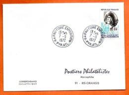 MAURY N° 1706  PAUL DE CHOMEDEY  64 PAU   1972  Lettre Entière  N° PP 631 - 1961-....