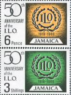 Ref. 175971 * NEW *  - JAMAICA . 1969. 50TH ANNIVERSARY OF THE INTERNATIONAL LABOUR ORGANIZATION (ILO). 50 ANIVERSARIO - Jamaica (1962-...)