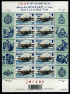 Ref. 571788 * NEW *  - JERSEY . 2000. HISTORY OF AVIATION AND 60th ANNIVERSARY OF THE BATTLE OF BRITAIN. HISTORIA DE LA - Jersey