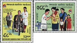 Ref. 243888 * NEW *  - LAOS . 1988. 125th ANNIVERSARY OF RED CROSS. 125 ANIVERSARIO DE LA CRUZ ROJA - Laos