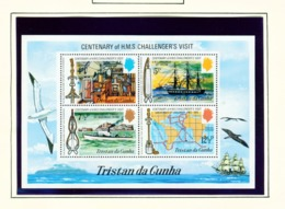 TRISTAN DA CUNHA  - 1973 Challengers Visit Miniature Sheet Unmounted/Never Hinged Mint - Tristan Da Cunha