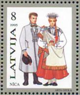 Ref. 164288 * NEW *  - LATVIA . 1995. REGIONAL COSTUMES. TRAJES REGIONALES - Letonia