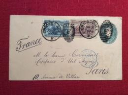 Corvisart Le Baron Petit Fils Du Docteur De L Empereur Napoleon Capitaine D état Major En 1893 Timbres USA - Marcophilie (Lettres)