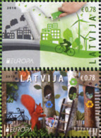 Ref. 367030 * NEW *  - LATVIA . 2016. EUROPA CEPT 2016 - ECOLOGIA EN EUROPA - PIENSA EN VERDE - Lettonia