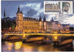 CARTE MAXIMUM:  PARIS: LA CONCIERGERIE ,83e Congrés De La Fédération Françaises Philathélique : 1er Jour 19.06.2010 - 2010-...
