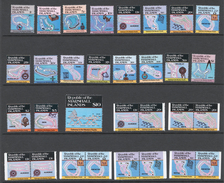 Marshall Islands 1984-87 DEFINITIVES Mi# 5-14+ 40-45+ 71-72+ 119** MAPS AND NAVIGATIONAL INSTRUMENTS - Marshall