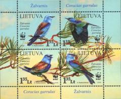 Ref. 216966 * NEW *  - LITHUANIA . 2008. EUROPEAN ROLLER. CARRACA EUROPEA - Lithuania
