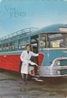 Chauffeur A Coté De Son Bus Vive St Eloi (26) - Autres