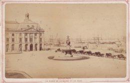 BORDEAUX LA PLACE DE LA BOURSE ET LA RADE PHOTO ANCIENNE ALBUMINEE SUR CARTON Achat Immediat - Fotos