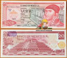 Mexico 20 Pesos 1976 UNC Serie CN P-64c - Mexico
