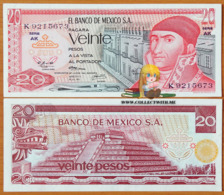 Mexico 20 Pesos 1973 UNC Serie AK P-64b - Mexico