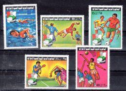 8.10.1977; Arabische Schulsportmeisterschaften, Mi-Nr. 611 - 615, Potfrisch, Los 51953 - Libia