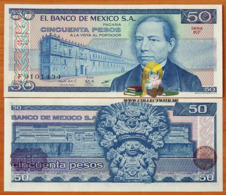 Mexico 50 Pesos 1981 UNC Serie KF P-73 - Mexico