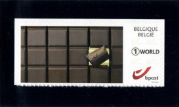 Belgium 2015 Duostamp Self-Adhesive 'World' MNH, Chocolate, Chocolat Chocolade - Alimentation