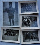 Photox5 ABL CARABINIER CYCLISTE Circa 1935-40 Wielrijders Armée Belge Belgische Leger Militaria - Guerra, Militari