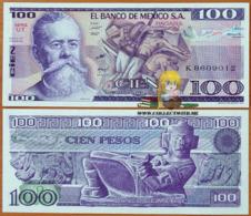 Mexico 100 Pesos 1982 UNC Serie UT P-74c - Mexico