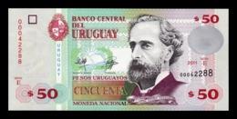 Uruguay 50 Pesos Uruguayos  2011 Pick 87b De La Rue SC UNC - Uruguay