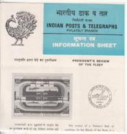 Info,Ship, Navy, Submarine Ship, Airplane, Defence, India 1984 President Fleet Review, - Boten