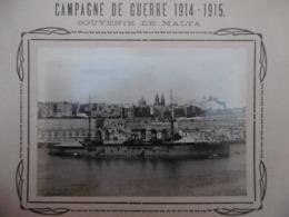 MALTE SOUVENIR DE MALTA CUIRRASSÉ MIRABEAU MARINE CAMPAGNE DE GUERRE 1914 1915 PHOTO - Barche