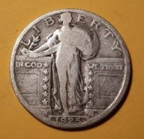 Quarter Dollar 1925 Standing Liberty USA Stati Uniti America - 1916-1930: Standing Liberty (Libertà In Piedi)